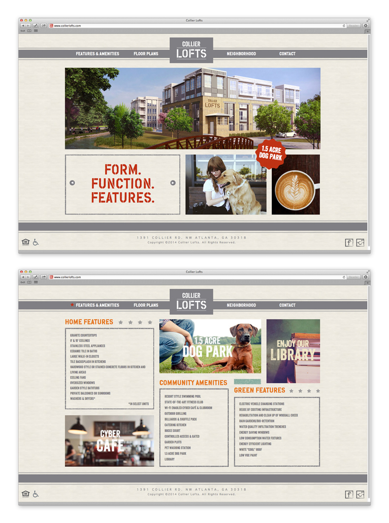 Collier Lofts Website