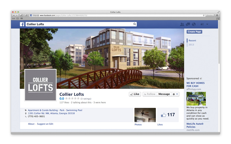 Collier Lofts Social Media