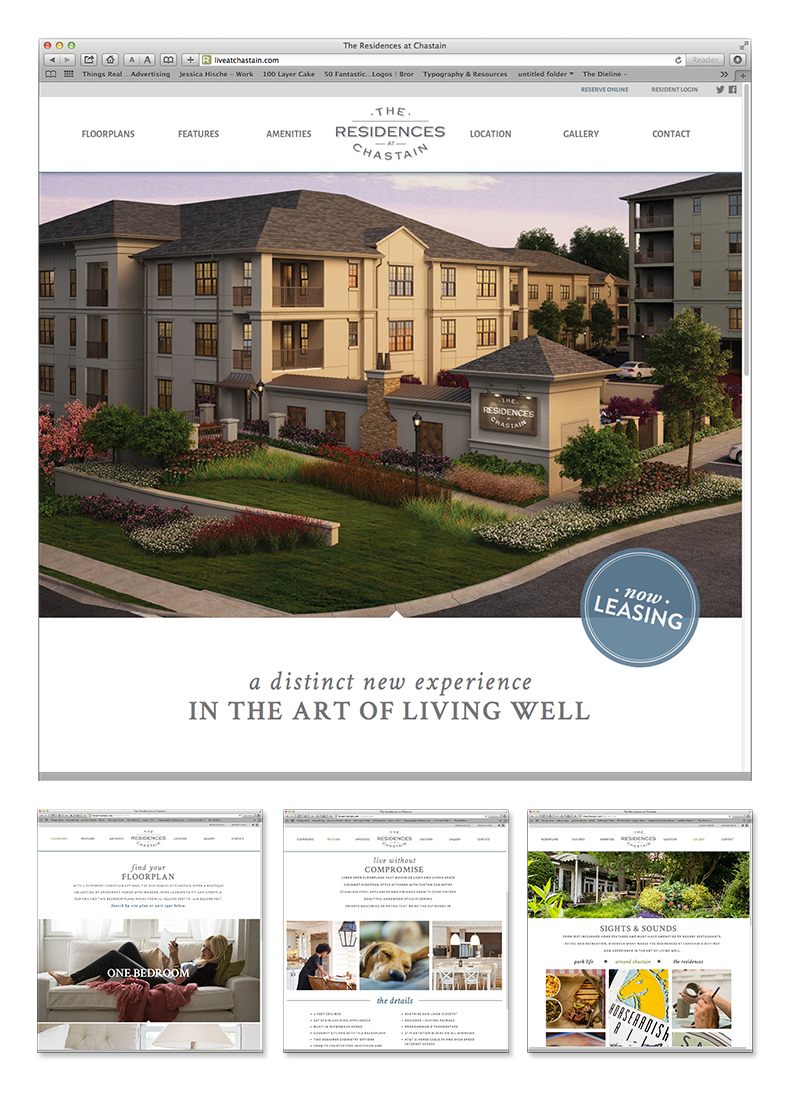 The Residences at Chastain Website