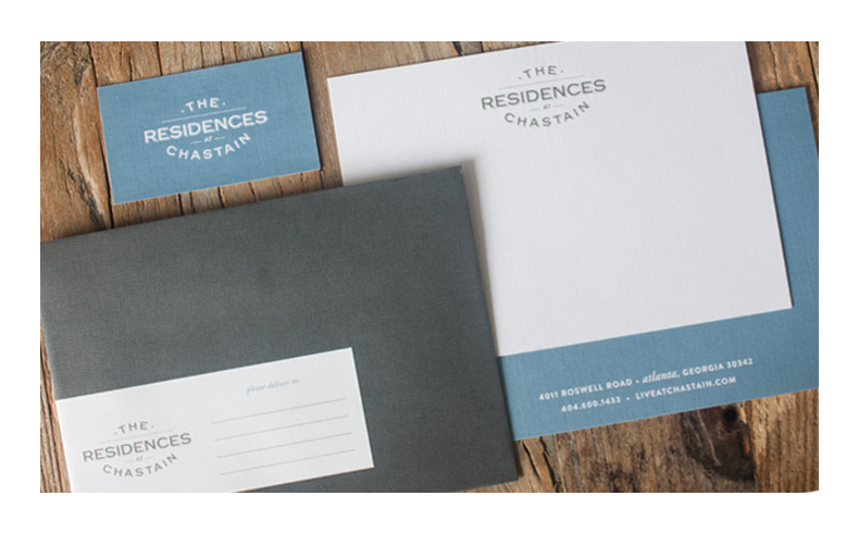 The Residences at Chastain Stationery Package